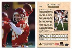 Joe Montana 1995 Upper Deck 116 SP Championship (Promo)