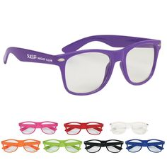 COOL $1.89/Each Promotional Clear Lens Malibu Glasses | Customized Clear Lens Malibu Glasses #6235 | Custom Party Eye Glasses