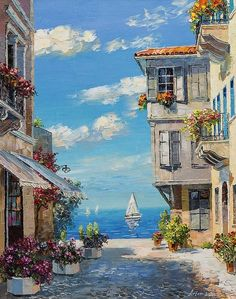 Oil painting photos landscape panorama Source by Watercolor Landscape, Landscape Art, Landscape Paintings, Watercolor Paintings, Simple Watercolor, Painting Abstract, Oil Paintings, Pintura Exterior, Anime Scenery