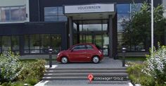 Fiat shown on google maps... in front of the VW headquarters!! Did Fiat plan this elaborate gag, or was it a matter of happenstance? I'm going to go with Fiat is awesome and planned this..