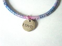 Love Bangle  Upcycled Bangle with Love Charm  UK by Pookledo, £5.00
