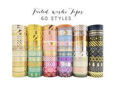 Bundle Deal 10 pcs Washi Tape Lot / Foiled Tape Wholesale / Value Pack