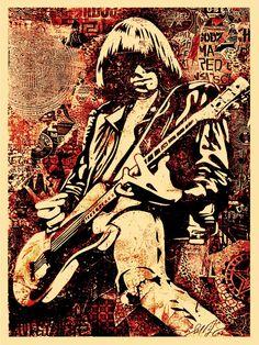 Johnny Ramone by Shepard Fairey