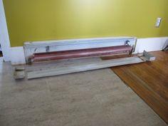 Spray painting baseboard heaters