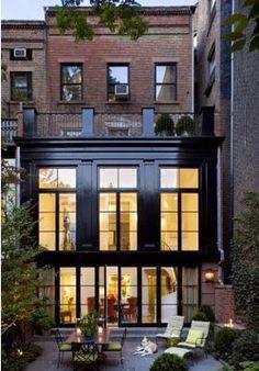 Big windows, black exterior