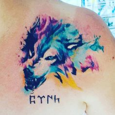 My tattoo #wolf # Türk
