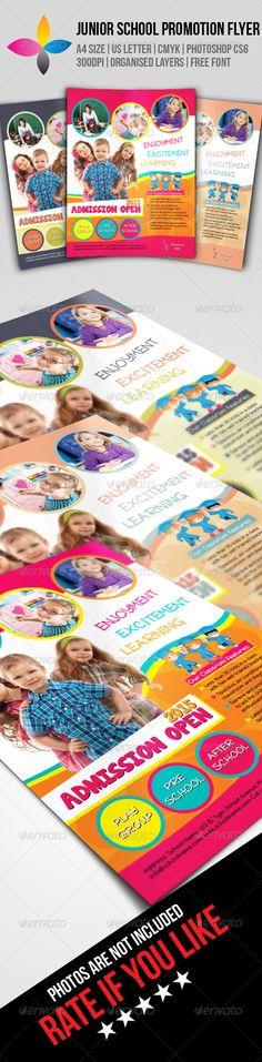 Junior School Promotion Flyer — Photoshop PSD #promotion #children • Available here → https://graphicriver.net/item/junior-school-promotion-flyer/8066631?ref=pxcr