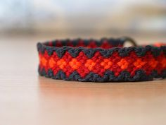 The volcano lava friendship bracelet ,Jewelry  ,Bracelet  ,Fiber  ,woven  ,macrame  ,friendship Bracelet  ,hippie  ,colorful ,native, rainbow