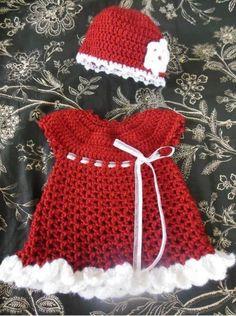 Crochet Baby Santa Dress Pattern