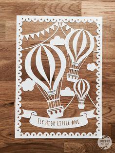 Bunting Hot Air Balloons SVG / PDF Design от TommyandTillyDesign