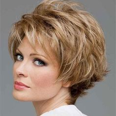 10 Creative Hairstyles for 50 Year Olds Picture Short Hairstyles For Thick Hair, Long Hair With Bangs, Long Hair Cuts, Wig Hairstyles, Short Hair Styles, Gorgeous Hairstyles, Straight Hair, Classy Hairstyles, Hairstyles Pictures