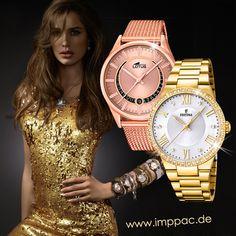 Im Imppac-Shop finden Sie auch vergoldete Damen- oder Herrenuhren bekannter Marken, wie Festina und Lotus. Lassen Sie sich inspirieren, denn für einen glamourösen Auftritt zählt jedes Detail! Shops, Michael Kors Watch, Rolex Watches, Lotus, Accessories, Fashion, Watches Online, Famous Brands, Pocket Watch