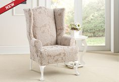 Sure Fit Slipcovers Stretch Forest Wing Chair Slipcovers   Wing Chairs