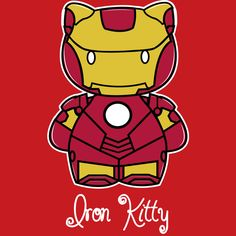 Hello Kitty and Iron Man mashup? Yes, please! Adorable!