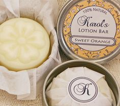 Solid Lotion Bar  Sweet Orange  Best Seller by karolshandmadesoap, $5.00