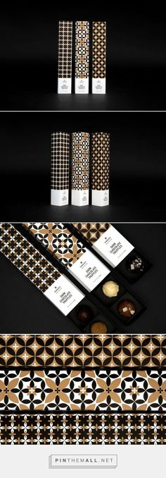 Vosges Chocolate truffles packaging designed by Kajsa Klaesén - http://www.packagingoftheworld.com/2015/09/vosges-student-project.html