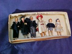 6pc-1930s-GERMAN-Bisque-DOLL-HOUSE-DOLL-SET-Hand-Painted-w-Original-BOX