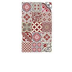 2d4b1a22609 Tapis Vinyle - Eclectic - Rouge   Gris - 70 x 120 cm - Beija Flor