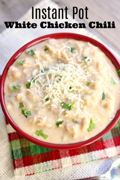 Slow Cooker Thick And Creamy White Chicken Chili An Indulgent White