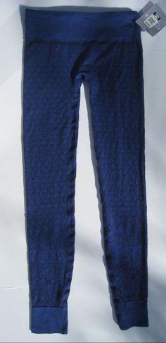 Athleta Diamond Peak Tight Leggings Base Layer Wool Blue Ski Snowboard $69  #Athleta #PantsTightsLeggings