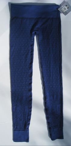 Athleta Diamond Peak Tight Leggings Base Layer Wool Blue Ski Snowboard $69  #Athleta #PantsTightsLeggings