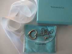 Tiffany Elsa Peretti LARGEST Sterling Silver 27mm OPEN HEART Necklace $350 MSRP…