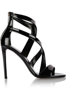 Tamara Mellon Tiger patent-leather sandals | NET-A-PORTER