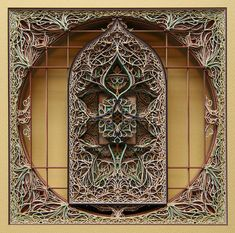 Laser Cut Paper Stained Glass Window Sculptures