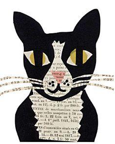 tuxedo cat paste piece