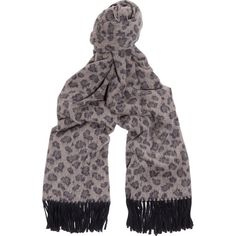 Acne Studios Canada leopard-intarsia wool scarf featuring polyvore, women's fashion, accessories, scarves, navy, acne studios, navy shawl, wool shawl, navy blue shawl and woolen shawl