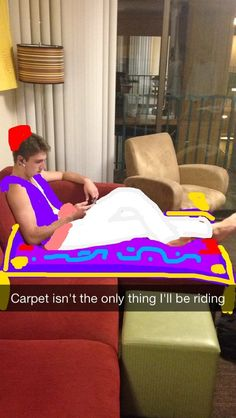 Aladdin from Aladdin | Community Post: Student Turns Roommate Into A Variety Of Disney Characters On Snapchat