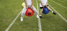 Field day games allow students and teachers to relax and celebrate the end of the school year.