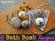 6 Amazing Bath Bomb Recipes from Simple Life Mom - all natural, organic ingredients only