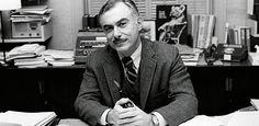 Harvard Extension School Dean Shinagel in his office circa 1980