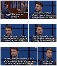 When Daniel made a wise observation about the human race. | 25 Times The Internet Fell In Love With Daniel Radcliffe