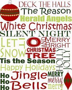 free printable.....subway art for Christmas