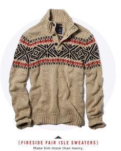 Men's Fireside Fair Isle Sweaters