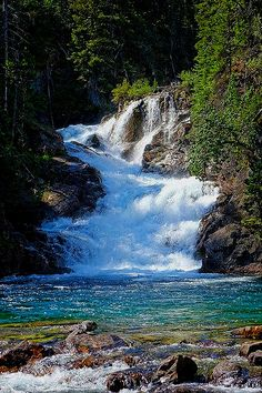 Gros Ventre Falls,Gracier National Park ,Montana.