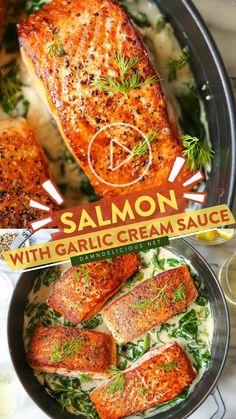 Salmon Recipes, Fish Recipes, Seafood Recipes, Dinner Recipes, Clean Eating Recipes, Cooking Recipes, Healthy Recipes, Fish Dishes, Main Dishes