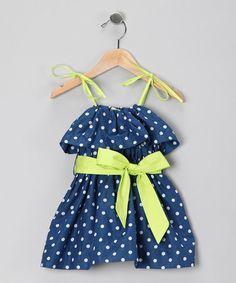 Baby Girl Stuff: Sophie Catalou Blue & Lime Jaqueline Dress - Infan...