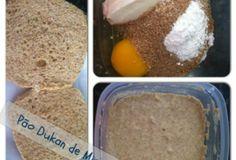 Pão Dukan de microondas