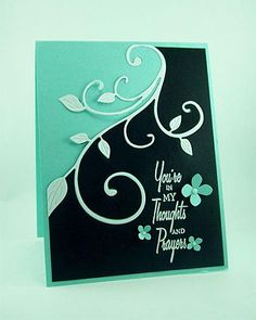 Two toned card with flourish divider.