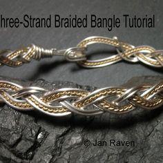 Free Wire Jewelry Tutorials | Braided Wire Bangle | JewelryLessons.com