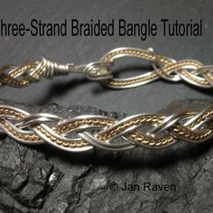 Free Wire Jewelry Tutorials | Braided Wire Bangle | JewelryLessons.com