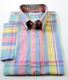 Men's Vintage Career Club MadrasStyle Plaid by TheIvyLeagueShop, $35.00 Men's Vintage, Career, Plaid, Shirt Dress, Club, Mens Tops, Shirts, Clothes, Style