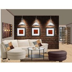 Modern Living room, created by paris-and-raylynn-9909 on Polyvore