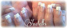 French blanche liseraie argent pailletté (pose semi permanent sur ongles naturels)