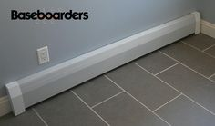 Do it yourself home décor. Easy to install baseboard covers. No tools necessary. Just slip it on.