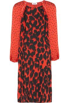 Moschino Cheap and Chic | Printed silk dress | NET-A-PORTER.COM