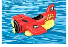 Summer Play Kids Inflatable Ride-On Sea Plane Pool Float Swimming  Toy Raft
